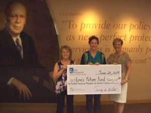 Erie Ins EFF check presentation June 23 2017